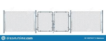Realistic Metal Wire Fence And Gate Detailed Illustration Isol Stock Vector Illustration Of Realistic Fencing 133276417