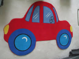 Fun Rugs Red Car Rug Kids Boys Room 39 X 58 Nylon Area Play For Sale Online