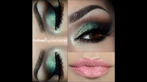 sea green smokey eye makeup saubhaya