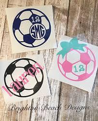 Monogram Soccer Decal Soccer Sticker Custom Soccer Decal Personalized Soccer Decal Soccer Decal For Yeti S Soccer Mom Decal Soccer Shirts Designs Soccer Crafts
