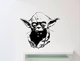Master Yoda Wall Vinyl Decal Star Wars Jedi Master Yoda Poster Stencil Ink Quote Vinyl Sticker Home Teen Kids Room Design Nursery Ideas Art Decor Lettering Vinyl Mural 10sw Amazon Com
