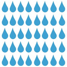 Raindrops 40 2 X 1 Vinyl Decal Stickers Water Droplets Drops Agua Minglewood Trading