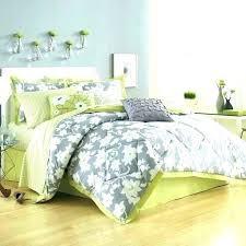 bedding sets full white emerald green