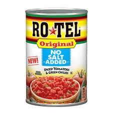 canned diced tomatoes and chopped green