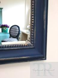 hand painted royal blue and gold rustic