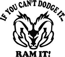 Dodge Ram Head Vinyl Decal Sticker For Your Trucks Rear Window Sticker Orcal