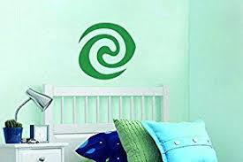 Amazon Com Inspired By Moana Wall Decal Sticker Green Stone Heart Of Goddess Te Fiti Home Kitchen Wall Decal Sticker Wall Vinyl Decor Girl Decals