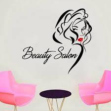 Beauty Salon Wall Sticker Sexy Woman Vinyl Decal Beautiful Red Lips Stickers Personailzed Shop Window Decoration Removable Wall Stickers Aliexpress
