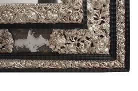silvered brass mirror