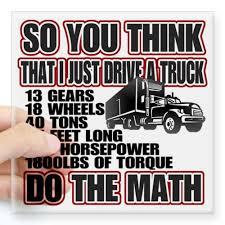 Cafepress Trucker Do The Math Square Sticker 3 X 3 Square Bumper Sticker Car Decal 3 X3 Small Or 5 X5 Car Bumper Stickers Bumper Stickers Car Decals