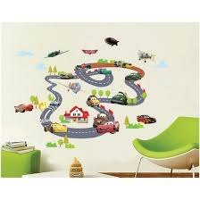 Shop Cartoon Cars Circle Race Track Vinyl Art Wall Sticker Kids Room Decal Removable Online From Best Wall Stickers Murals On Jd Com Global Site Joybuy Com