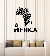 Vinyl Wall Decal African Continent Symbol Map Ethnic Ornament Stickers Wallstickers4you