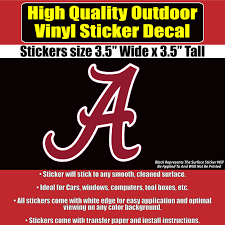 Alabama Crimson Tide Window Sticker Decal Any Size Any Color Sports Mem Cards Fan Shop College Ncaa Dr Lindner Ipn Co Il