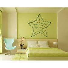 Good Night Star Wall Decal Wall Decal Sticker Mural Vinyl Art Home Decor Quotes And Sayings 4232 Turquoise 31in X 31in Walmart Com Walmart Com