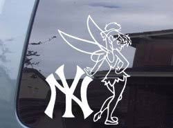 Decals Bumper Stickers Tinkerbell New York Yankees Car Window Vinyl Decal Sticker Stnyy006 6 L