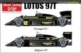 Lotus 97t Full Sponsor Water Transfer Decals 1985 For Fujimi 1 20