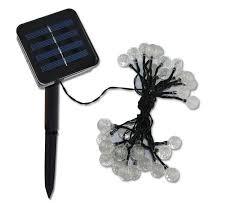 solar outdoor string lights 20ft 30 led