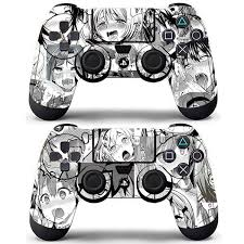 2 Pack Set Anime Funny Girls Ahegao Cute Vinyl Skin Decals Stickers Covers For Ps4 Dualshock Controllers Wish