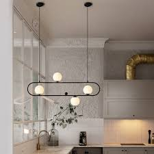 led pendant light glass ball shade