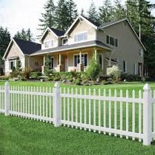 Veranda 3 Ft X 8 Ft Chelsea Spaced Picket Vinyl Fence Panel 128003 At The Home Depot House Fence Design Fence Design Front Yard Fence
