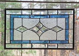 here is a large stained glass panel