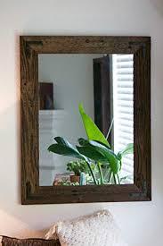 com rustic wall mirror large