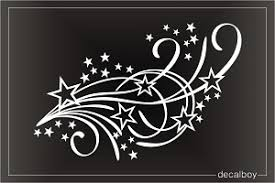 Stars Swirling Cattails Decal