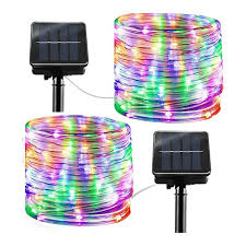 Solar String Lights Outdoor Rope Lights 8 Modes 100 Led Solar Powered Waterproof Tube Light Copper Wire Fairy Lights For Garden Fence Yard Party Wedding Decor Multi Color Lazada Ph