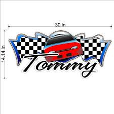 Personalized Racing Decal Race Car Wall Sticker Peel And Etsy