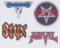 Rock Band Stickers Iii Van Halen Styx Motley Crue Anvil Etsy