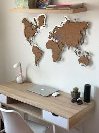 Cork World Map By Gadenmap Push Pin Travel Map For Wall Office Decor Bedroom Living Room Kid S Room Decorating Uniq Travel Room Decor Map Wall Decor Decor
