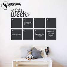 This Week Erasable Blackboard Chalkboard Weekly Calendar Planner Memo Vinyl Wall Decal Sticker 58x84cm Wall Decals Stickers Decal Stickerblackboard Chalkboard Aliexpress