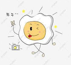 ملك البيض مضحك الكرتون بيض مسلوق تعبير مرسومة باليد التعبير