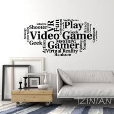 Video Games Cloud Words Wall Stickers Bedroom Gamer Room Art Decoration Wall Decals Game Company Office Modern Decor Murals Z564 Wall Stickers Aliexpress