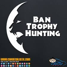 Ban Trophy Hunting Lions Vinyl Car Window Decal Sticker
