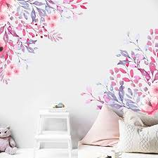 Amazon Com Watercolor Flowers Wall Decal Wild Flowers Decals Flower Decals Nursery Stickers Peony Stickers Girls Decals Floral Decals Ga305 Handmade