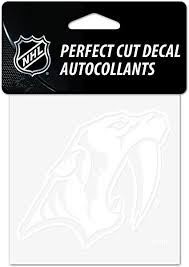 Amazon Com Wincraft Nhl Nashville Predators 4x4 Perfect Cut White Decal One Size Team Color Sports Outdoors