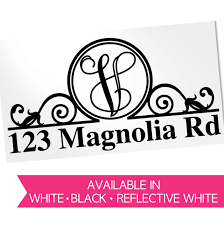 Personalized Mailbox Decal With Address Decals By Adavis