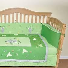 organic cotton crib set sage green