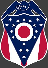 Police Badge Ohio State Flag Vinyl Decal Celebrate Local Shop The Best Of Ohio