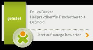 Dr. Iva Becker in 32756 Detmold, Heilpraktikerin für Psychotherapie,  Hypnose-Therapie - sanego