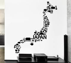Wall Decal Japan Sakura Samurai Island East Flag Sun Vinyl Stickers Ed090 Ebay