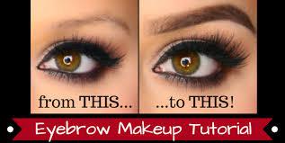 eyebrow makeup tutorials you saubhaya