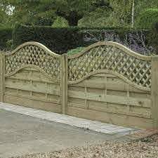 Omega Lattice Trellis Fence Panel Pressure Treated Free Delivery Available