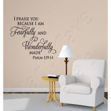 Christian Wall Decal Fearfully Wonderfully Made