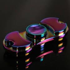 rainbow edc spinner fidget toys hand