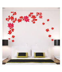 Stickme Red Maple Leaf Wall Sticker Floral Sticker 100 X 100 Cms Buy Stickme Red Maple Leaf Wall Sticker Floral Sticker 100 X 100 Cms Online At Best Prices In India On Snapdeal