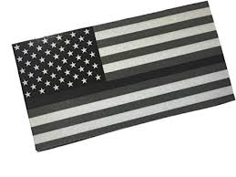 Amazon Com 3m Reflective Subdued Full Thin Grey Line 3 5 X 2 Decal Sticker United States Us American Flag Arts Crafts Sewing
