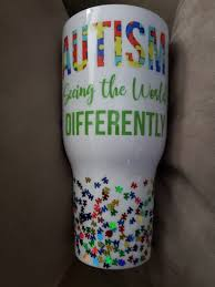 Autism Tumbler White Tumbler Cups Diy Custom Tumbler Cups Tumbler Designs