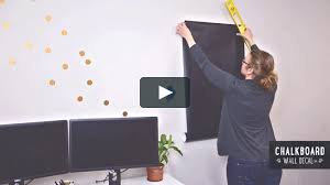 How To Install Large Chalkboard Wall Decals On Vimeo